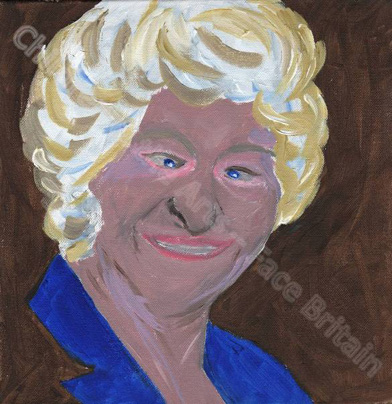 Dame Mary Peters used paints to create her self portrait. Don't miss